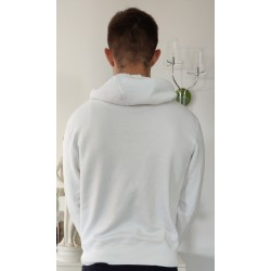 SWEAT HOMME DOS BLANC